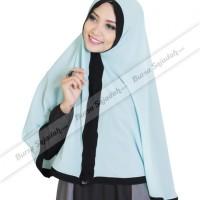 Kerudung Jilbab Hijab Instan Syari Panjang Motif Warna - Nahda Zaleera