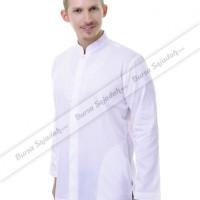 Baju Busana Koko Muslim Panjang Laki laki Warna Putih - Arzani Sykava