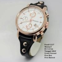 Jual jam tangan wanita kulit fosil. Murah