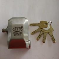 Gembok Rumah / Toko SES P-02 85mm (Stainless)(Computer Key)