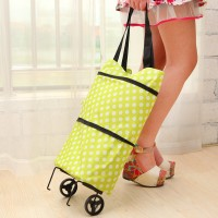 Jual POLKA DOT Tas Troli 02 Lipat Troly Shopping Foldable Trolley Bag Cart Murah