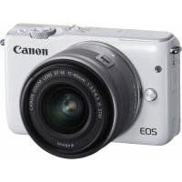 Kamera Canon EOS M10 White Putih Lensa 15-45mm Garansi Resmi Datascrip