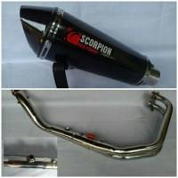 Knalpot Racing Scorpion Karbon Fullsystem R25 / Mt25