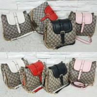 Tas Fashion Import Gucci Tristan 3 Ruang Gold Chain Kw Super