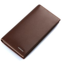 Fashion New Style Man Wallet Multifunction Solid Long Wallet With