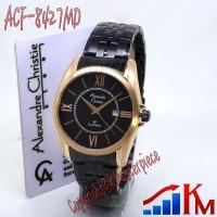 Jam Tangan Alexandre Christie AC 8427 MD Rose Gold Black