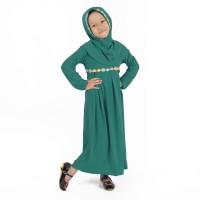 harga Baju Muslim Gamis Anak Perempuan Warna Hijau Toska, Simple Murah Tokopedia.com