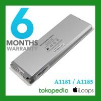 """Original Battery Baterai Macbook white black 13"""" A1181 A1185 2006 2007"""