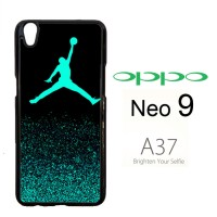 Air Jordan Jump Mint Glitter Casing HP Oppo Neo 9 / A37 rt Custom Cas
