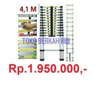 harga Tangga Telescopic / Tangga Teleskopik / Tangga Aluminium 4,1M Tokopedia.com
