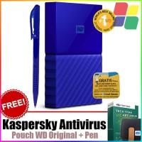WD My Passport NEW 2TB Hardisk Eksternal USB 3.0 - BLUE + Bonus