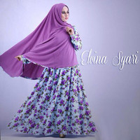 Hijab Modern Alvina Syar'i 2in1 ( Gamis Busui + Jilbab Bergo ) Limited