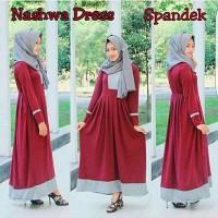 Jual NASHWA DRESS (RZ) / dress cantik wanita hijab lengan panjang Ba