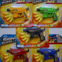 Tembak Tembakan Soft Bullet Gun Pistol Murah Mainan Anak Edukasi