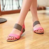 SDL55 Sandal Wanita Flat Cantik Poppy Pink