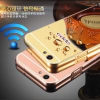 Bumper Mirror Oppo F1 S F1s A59 Selfie Expert Case Aluminium Metal HP