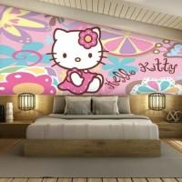 wallpaper dinding anak carakter helokity & frozen 3D custom