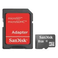 Sandisk Ultra Memory Micro SD - SDHC 8GB - Class 4 - With Adapter