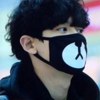 Jual masker mulut beruang / rilakuma mask / pelindung debu motor / outdoor Murah