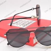 Kacamata Sunglass Premium Ferragamo Hitam Gold Limited