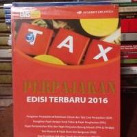perpajakan edisi terbaru 2016 by.mardiasmo