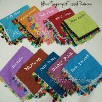 jilbab segiempat katun tassel rainbow / pelangi square hijab