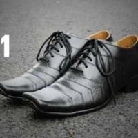 Sepatu Kerja Kantoran Cavany Pantofel Bertali Original