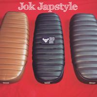 harga Jok Japstyle Bratstyle Caferacer Bobber Cb tiger Scorpio motor custom Tokopedia.com