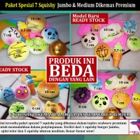 Jual Squishy, Paket Spesial 7 Squishy Jumbo & Medium dalam Sealware Premium Murah