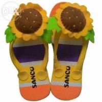 Sandal Sendal Sancu Boncu Boneka Anak Karakter Matahari Sun Kuning
