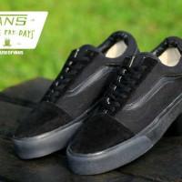 Sepatu Pria Vans Old Skool Full Black Waffle IFC Kets Casual Sneakers