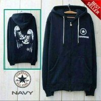Jaket Converse Shoes Navy Sweater Pria Wanita Grosir Murah Bandung