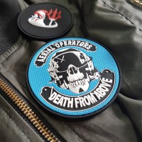 """Aerial Operator """"Death from above"""" Premium PVC Morale Patch"""