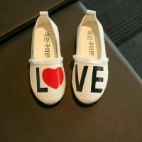 sepatu anak / kids shoes canvas lovely love import
