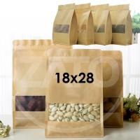 Jual Kraft Paper Bag 18x28 square| plastik ziplock | standing pouch | craft Murah