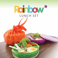 Sendok Tupperware - Rainbow Lunch Set - BEST SELLER