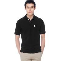 Baju Kerah / Polo Shirt Apple - Hitam