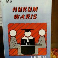 BUKU, HUKUM WARIS ( J. SATRIO, S. H )