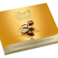 LINDT SWISS LUXURY SELECTION CHOCOLATE BOX - COKELAT IMPORT
