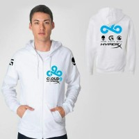 Jaket Gaming Dota 2 CSGO Cloud 9 White Hoodie