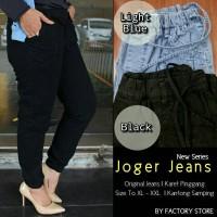 supplier baju hijab : celana joger jeans asli Ori