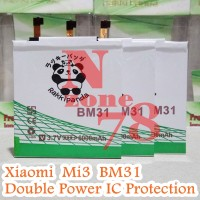 Baterai Xiaomi Mi3 Bm31 Bm-31 Rakkipanda Double Power Protection
