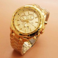JAM TANGAN PRIA FORTUNER ORI ANTI AIR CHRONO VARIASI FULL GOLD