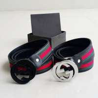 Ikat Pinggang BELT GUCCI Fashion EMBOSS LINE BLACK 02 Premium QUALITY