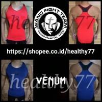 Kaos Ketat Pria Singlet Fitness Lycra MMA VENUM bodycombat
