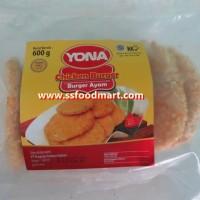 Jual Khusus GOJEK-GOSEND - Yona Daging Burger Ayam Crispy 600 gr isi 10 pcs Murah