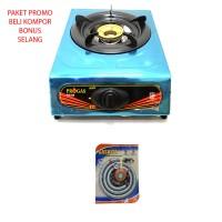 harga Kompor Gas 1 Tungku Bonus Selang Gas Paket Regulator Meter - Murah Tokopedia.com