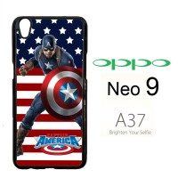 captain america Y2270 Casing HP Oppo Neo 9 / A37 rt Custom Case Cover