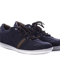 Sepatu Loafers Pria - Sneakers Hitam Casual Kanvas GM 1030 CIbaduyut