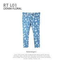 GIRLS REDTAG PANT DENIM FLORAL | Celana Anak Branded Original Murah